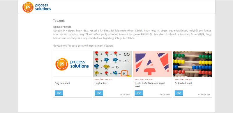 ProcessSolution Kft. - Egyedi fejlesztés referencia